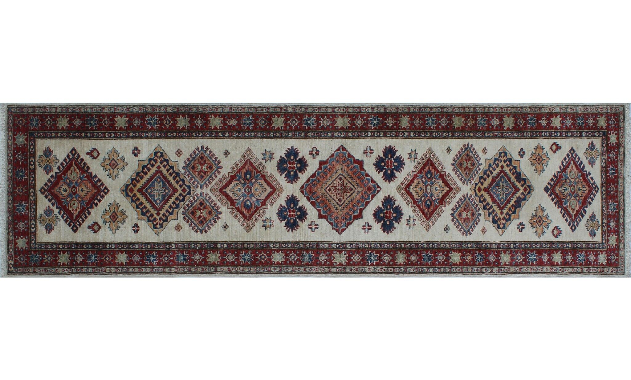 One-of-a-Kind Bronzewood Hand-Knotted Ivory Area Rug