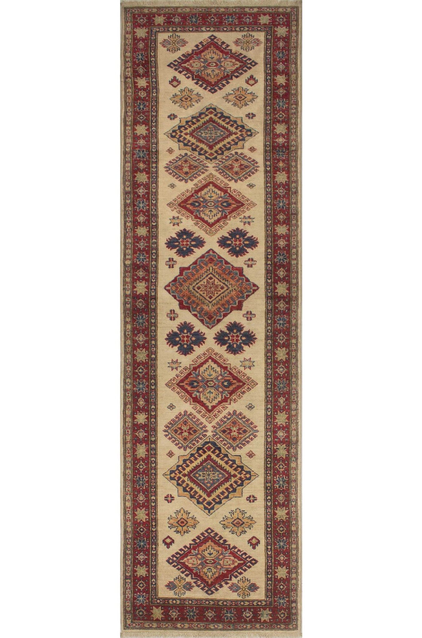 One-of-a-Kind Jax Hand Knotted Wool Ivory Area Rug