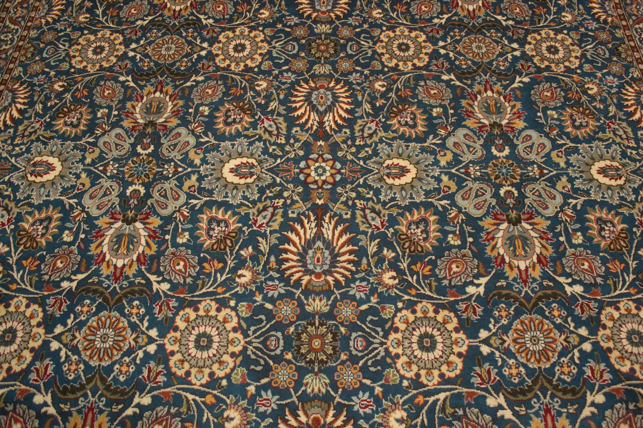 One-of-a-Kind Rosenblum Hand Knotted Wool Green/Beige Area Rug