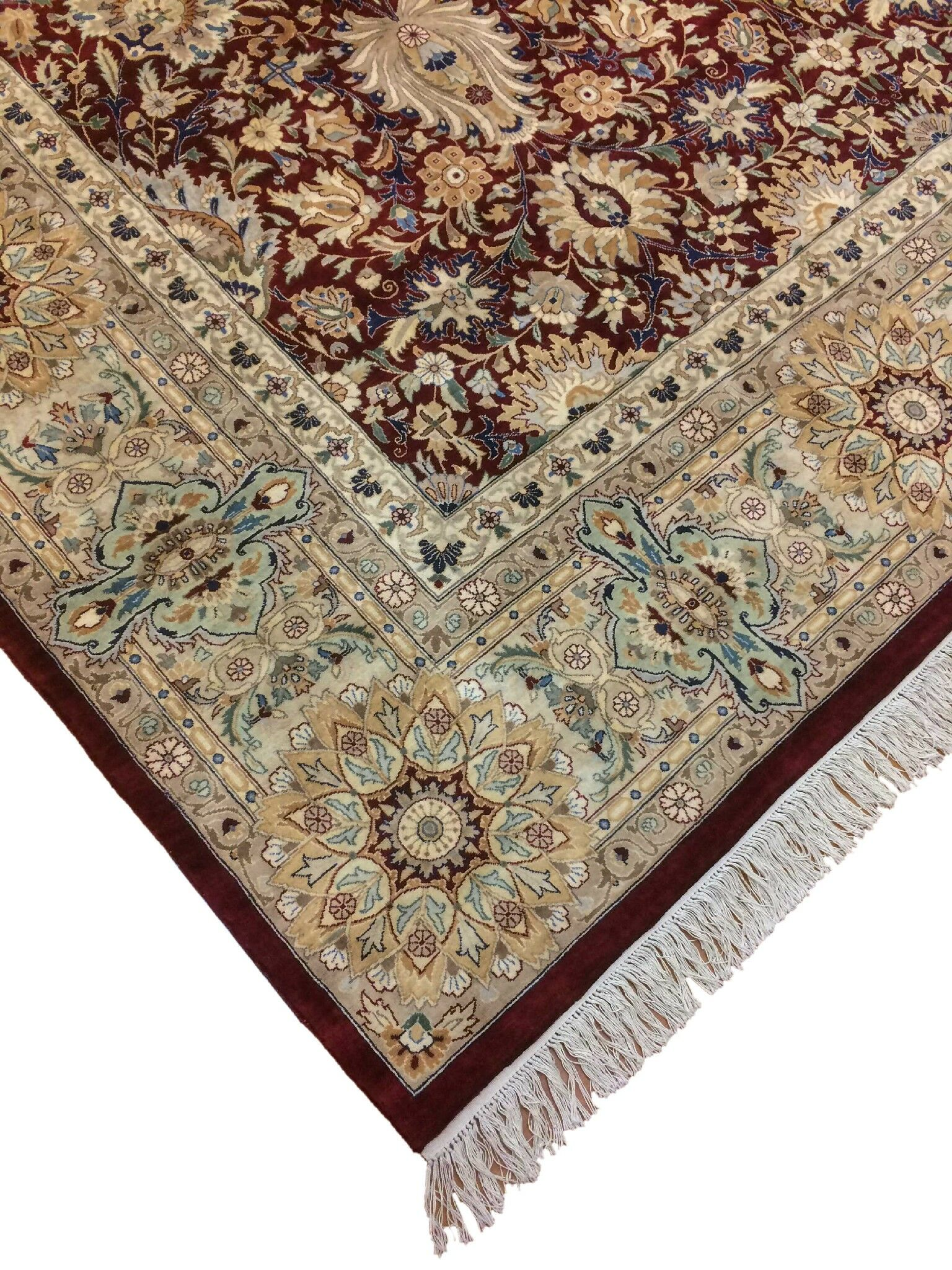 One-of-a-Kind Sanatoga Hand Knotted Wool Red/Beige Area Rug