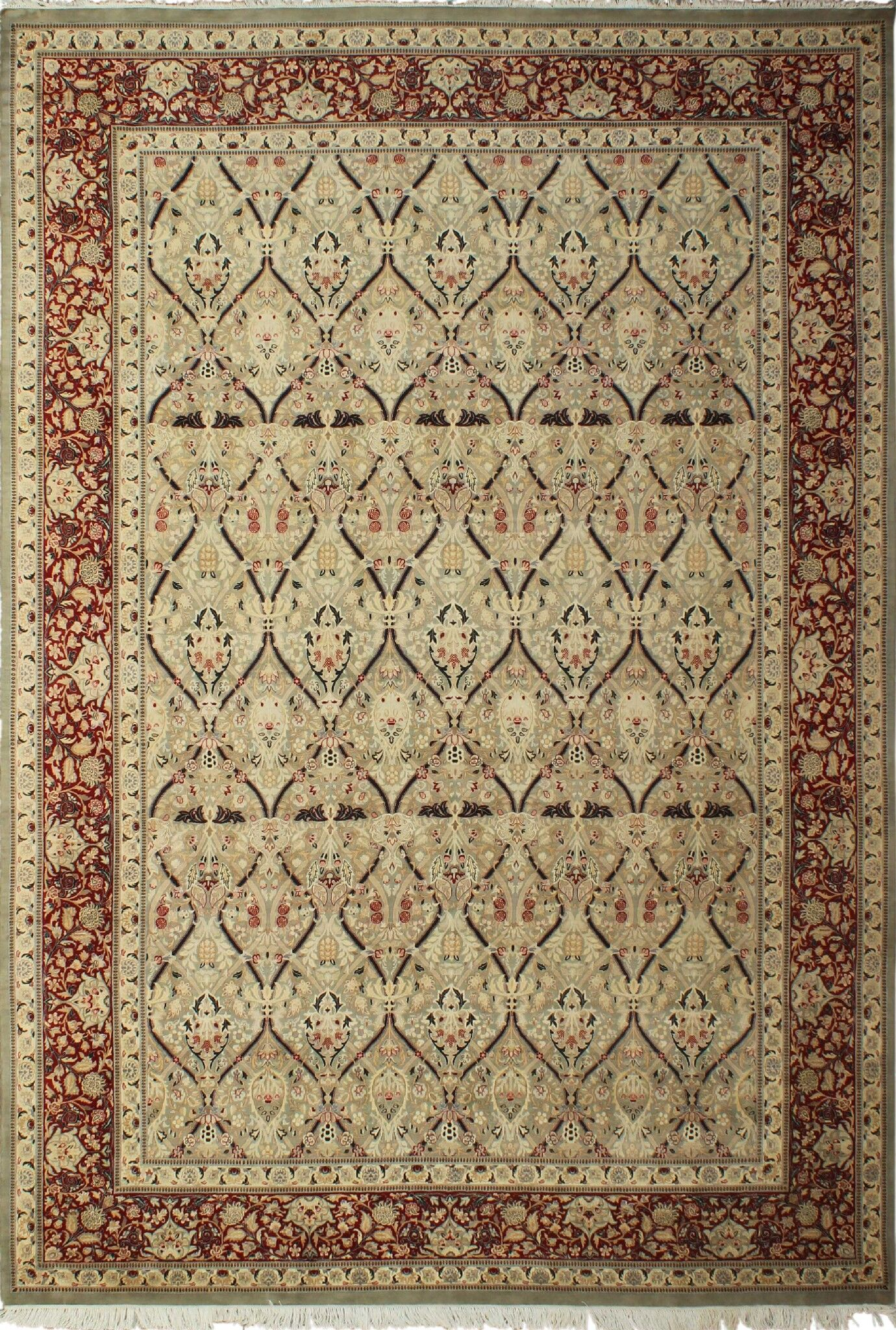 One-of-a-Kind Roderick Hand Knotted Wool Light Green Area Rug