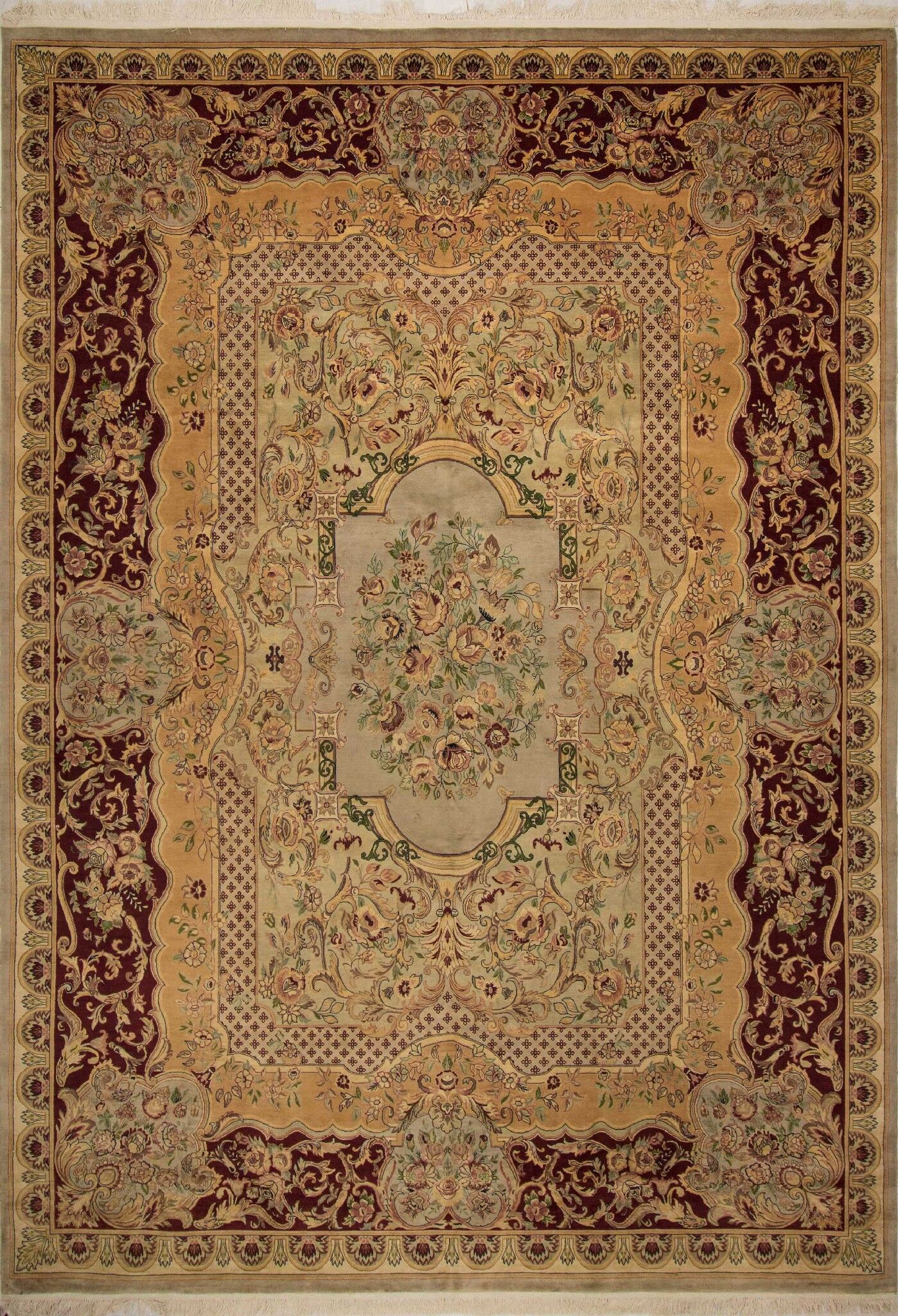 One-of-a-Kind Sarah Hand Knotted Wool Light Tan Area Rug