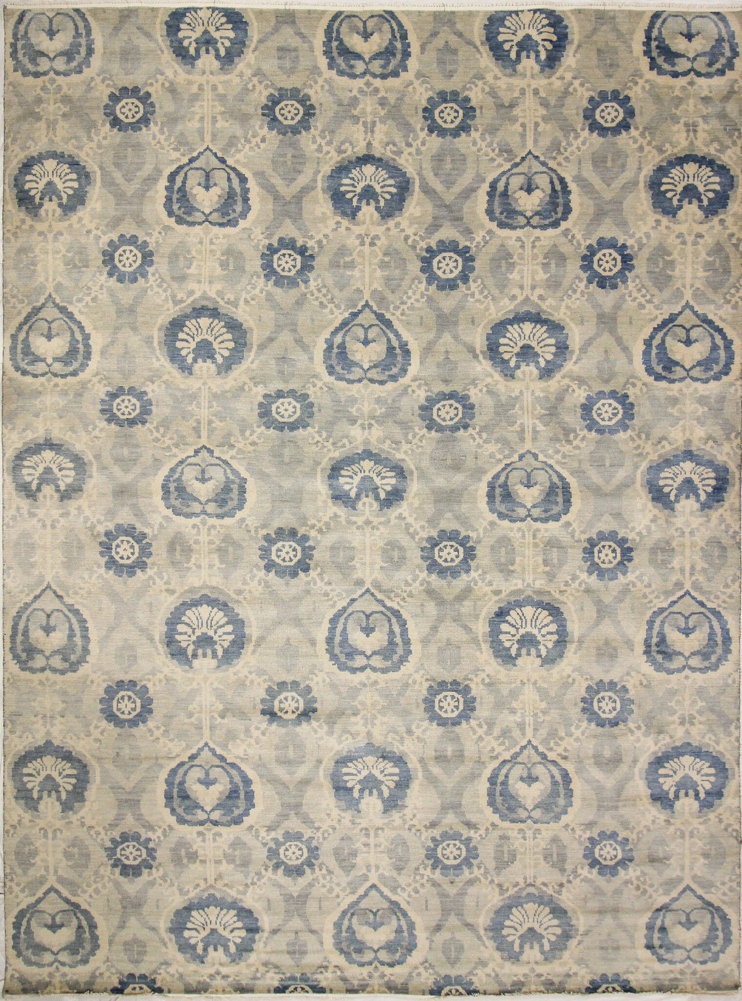 One-of-a-Kind Lona Hand-Knotted Wool Gray/Ivory Area Rug