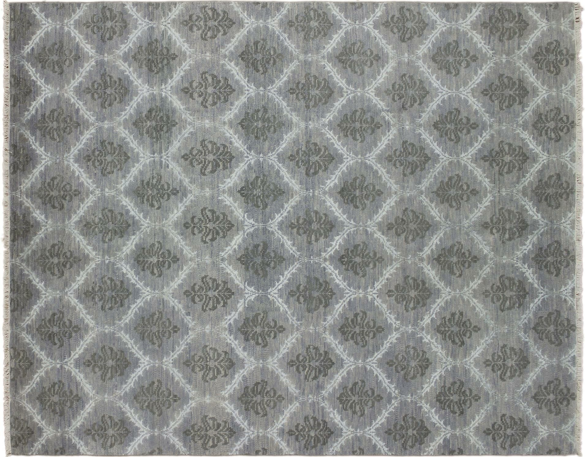 One-of-a-Kind Lona Hand-Knotted Wool Gray Area Rug
