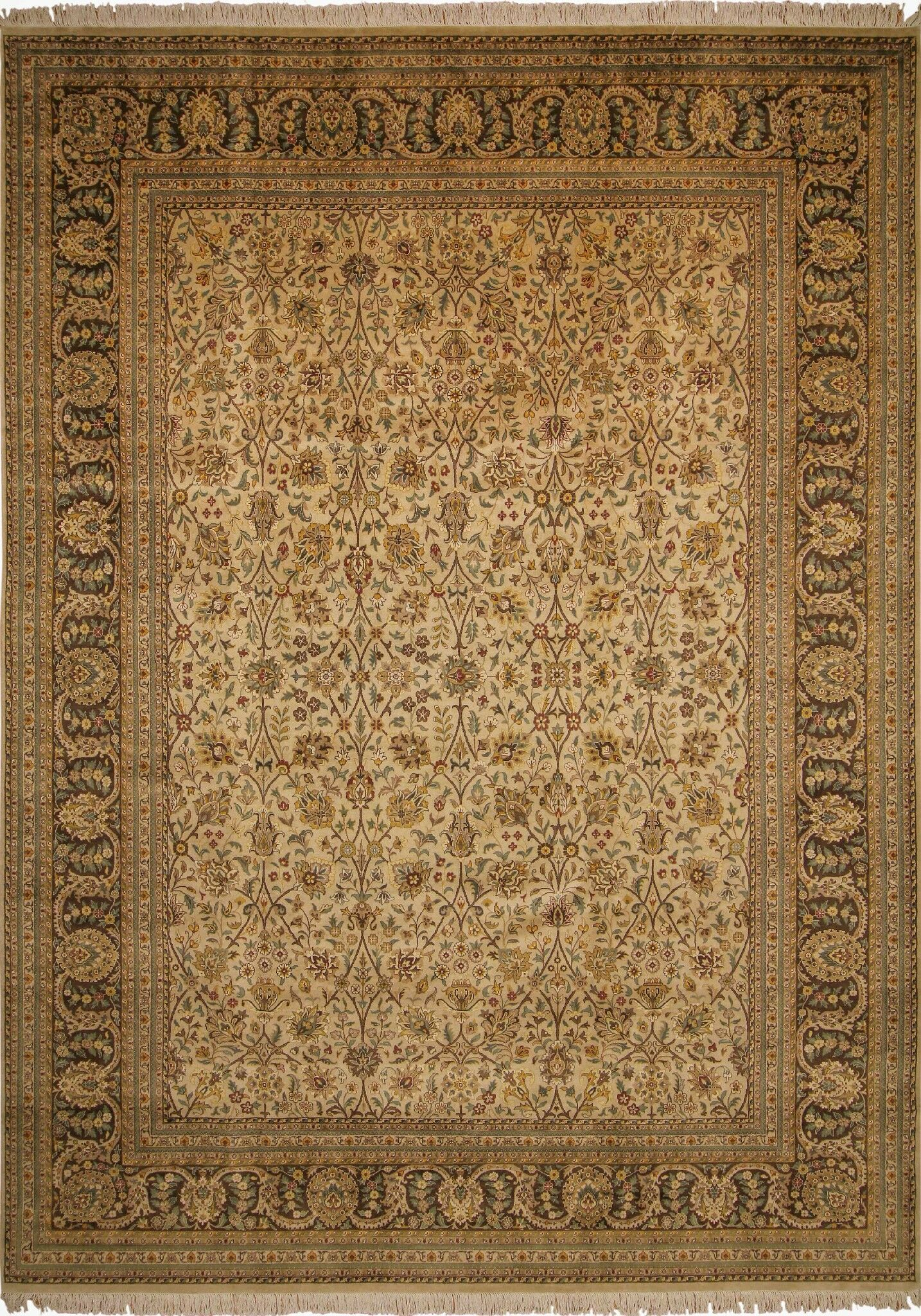 One-of-a-Kind Abarca Hand Knotted Wool Beige Area Rug