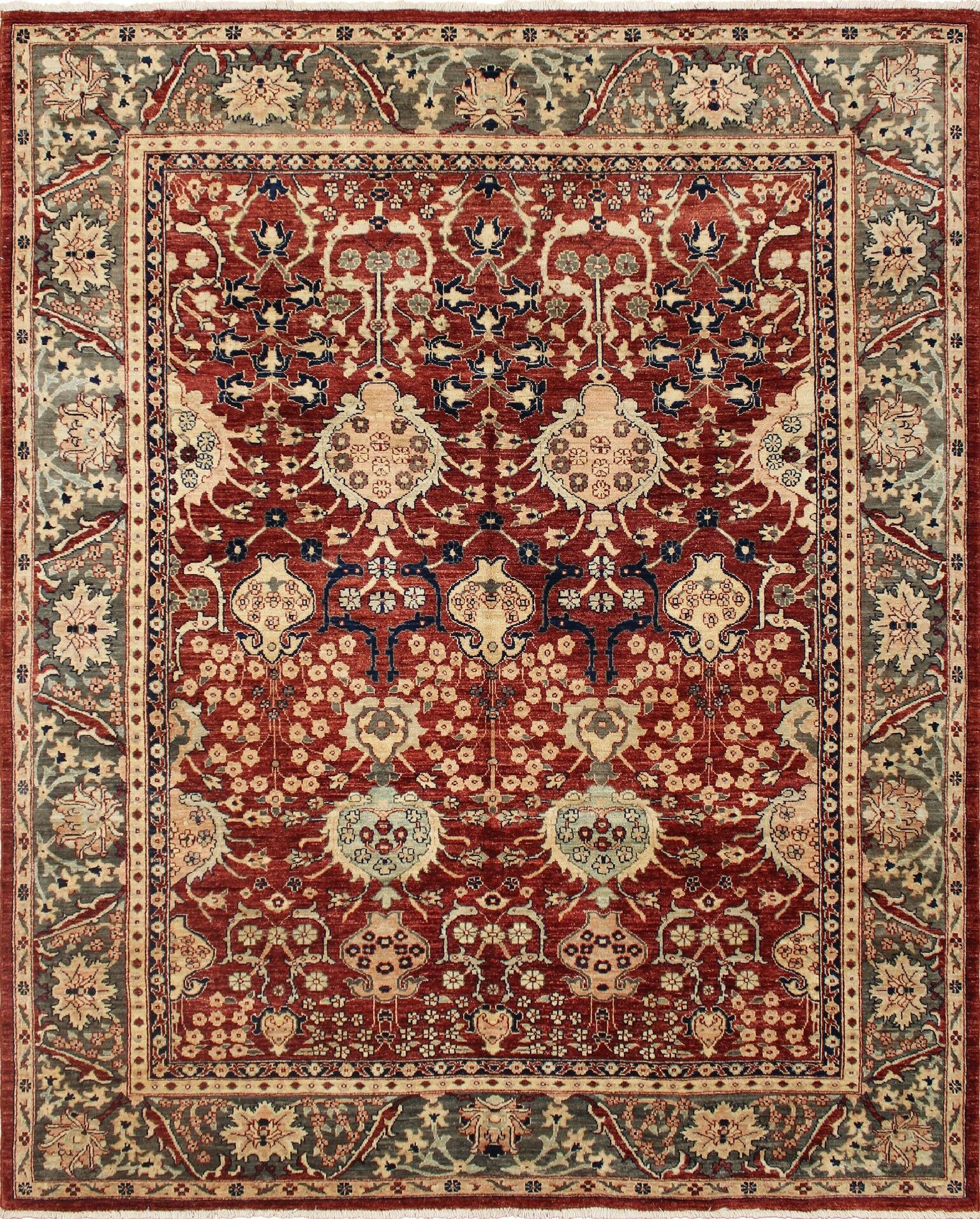 One-of-a-Kind Montague  Hand-Knotted Wool Red Area Rug
