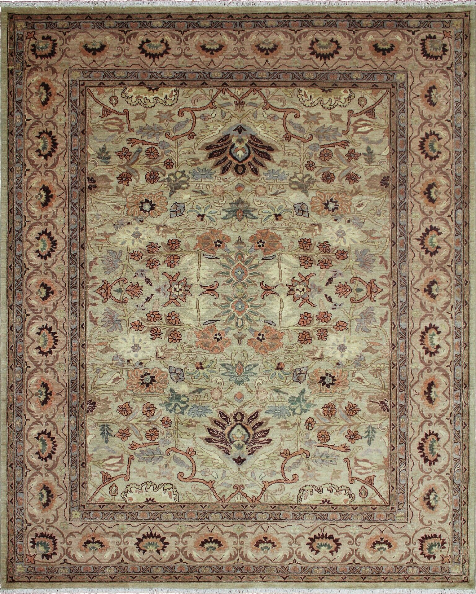 One-of-a-Kind Romona Hand Knotted Rectangle Wool Gray Area Rug
