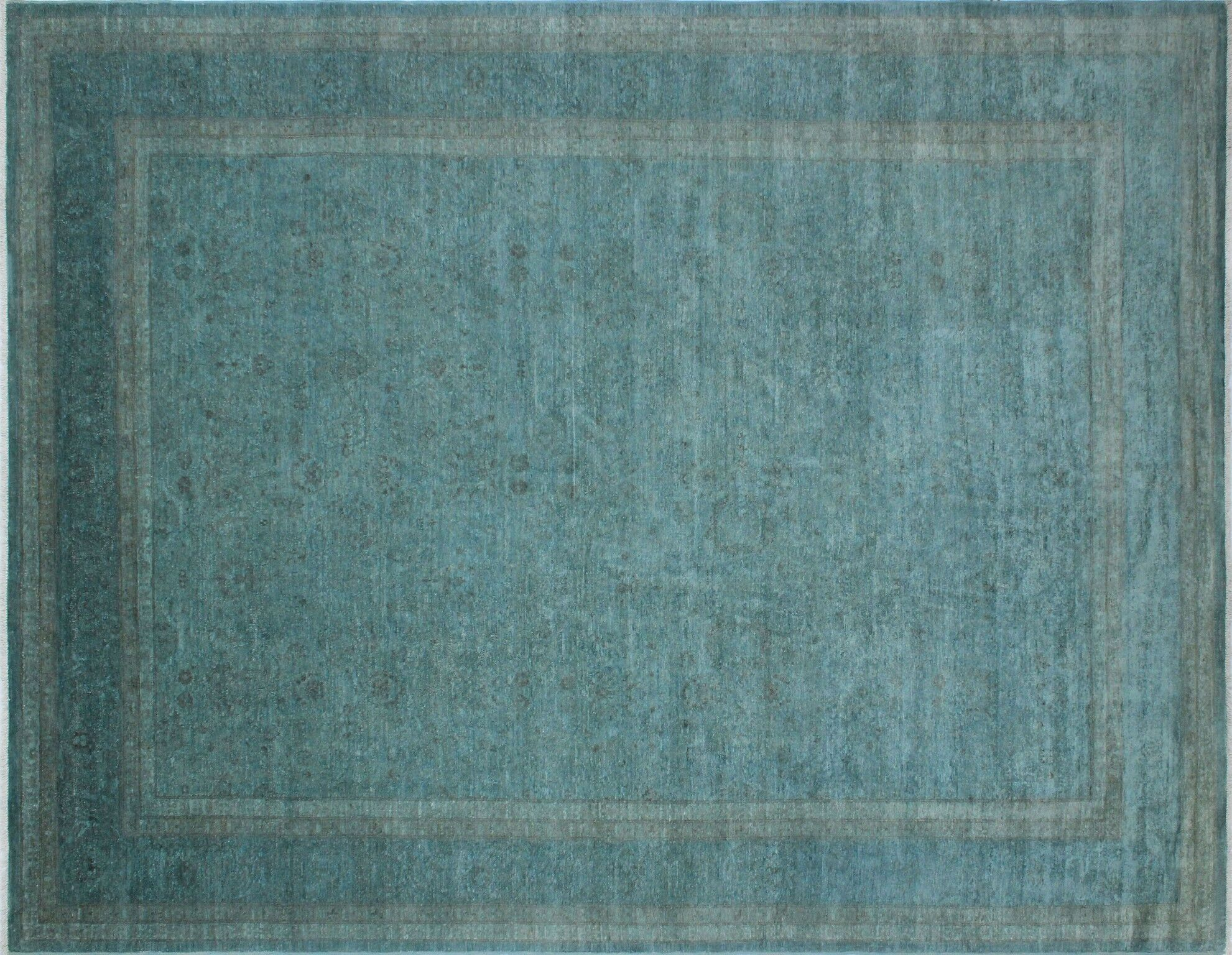 One-of-a-Kind Collette Hand-Knotted Wool Teal Area Rug
