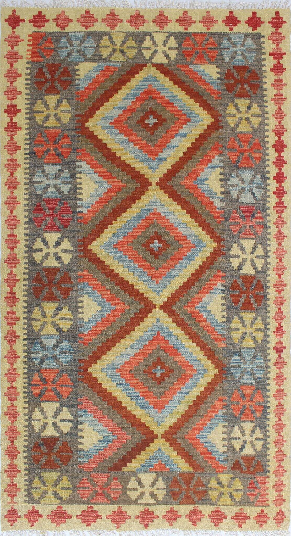 One-of-a-Kind Teressa Kilim Hand-Woven Wool Beige Area Rug