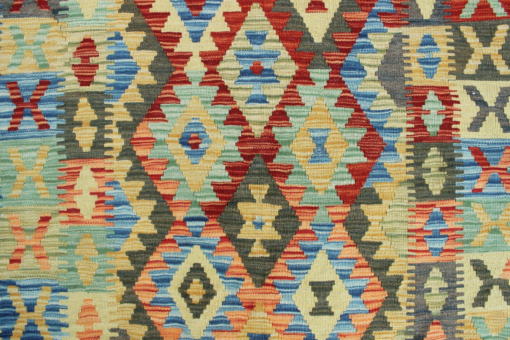 One-of-a-Kind Rucker Kilim Tabish Hand-Woven Wool Rust Area Rug