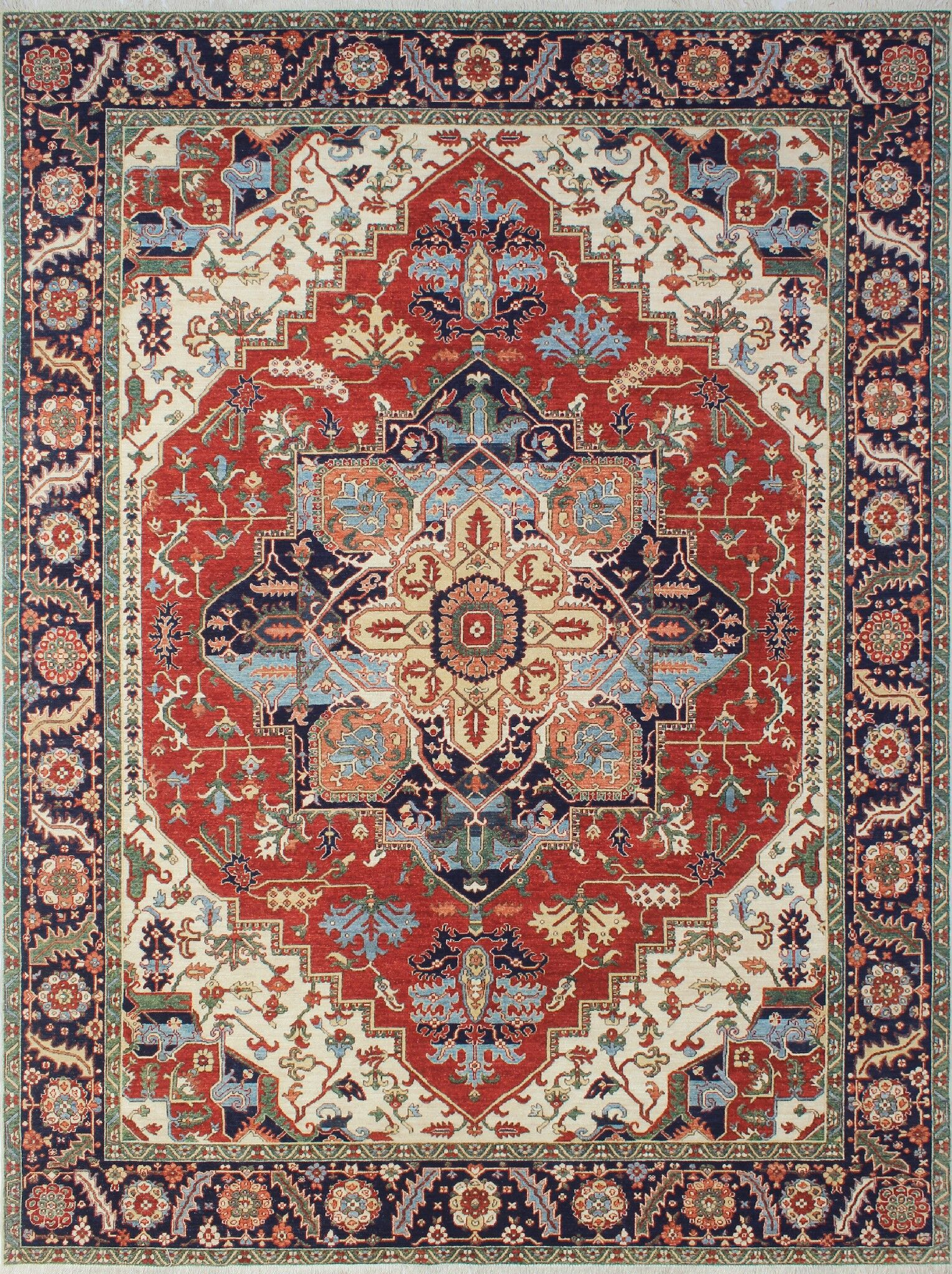 One-of-a-Kind Woodmoor Moursal Hand-Knotted Wool Rust Area Rug