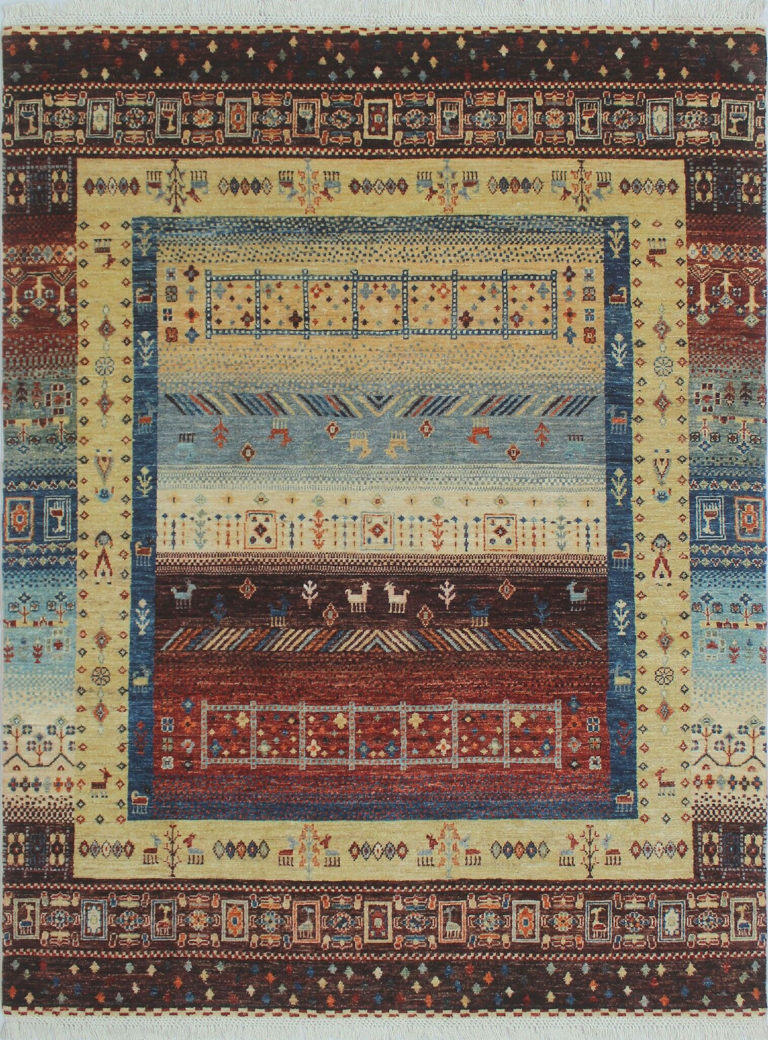 One-of-a-Kind Woodmoor Yosuf Hand-Knotted Wool Gold Area Rug
