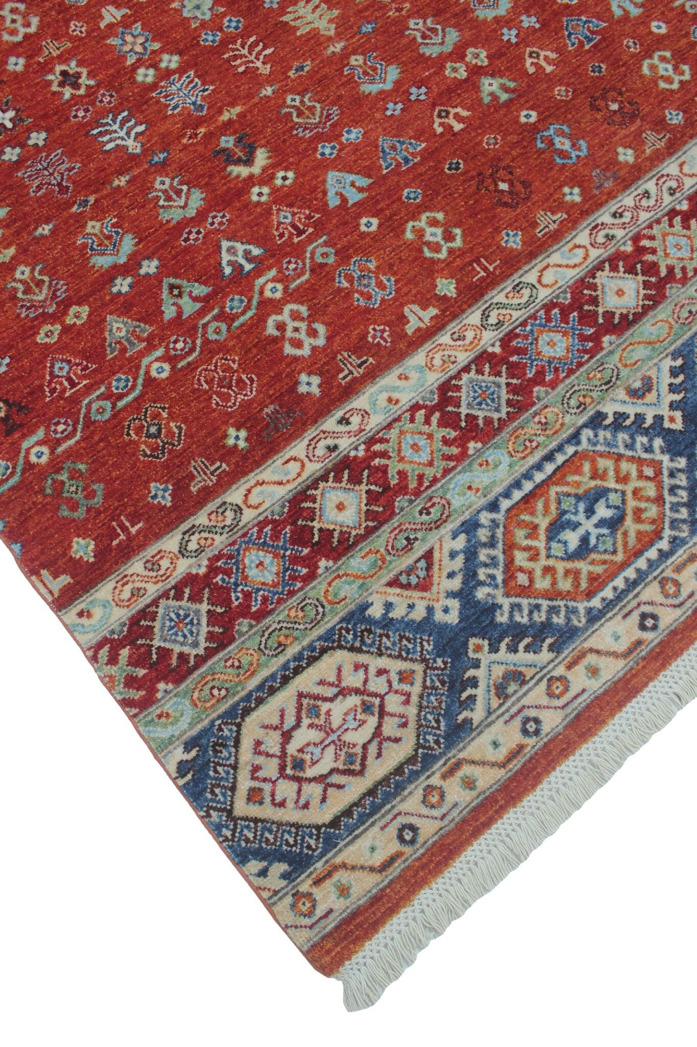 One-of-a-Kind Trevor Nasreen Hand-Knotted Wool Rust Area Rug