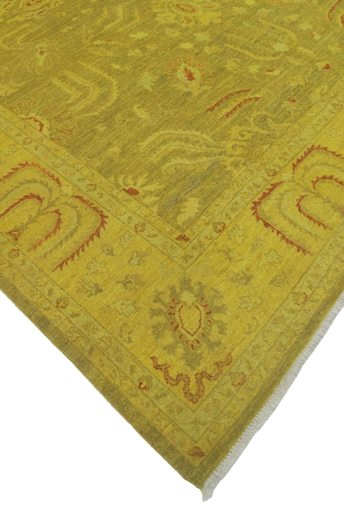 One-of-a-Kind Collette Hand-Knotted Wool Gold Area Rug