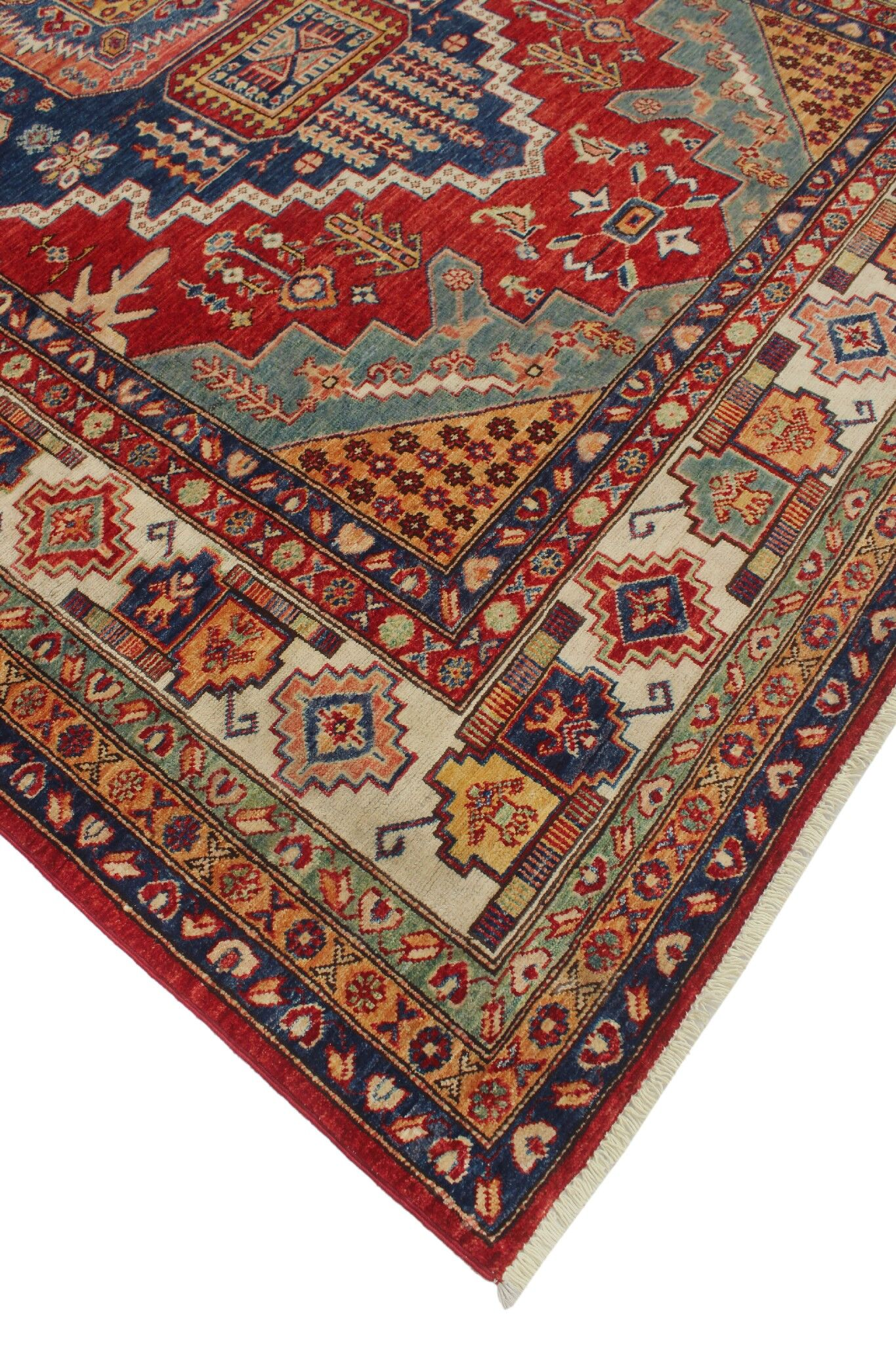 One-of-a-Kind Bronzewood Hand-Knottedl Wool Red Area Rug