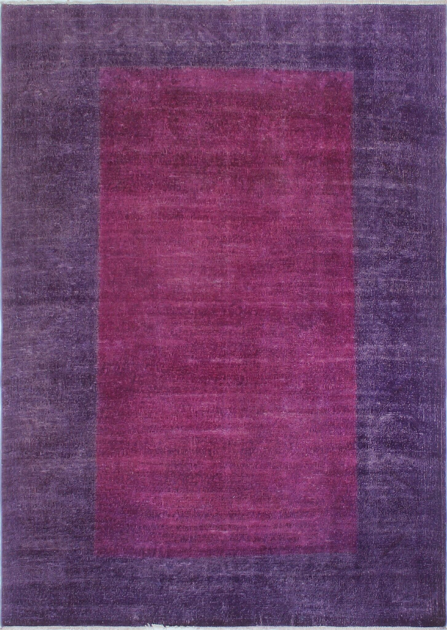One-of-a-Kind Collette Hand-Knotted Wool Purple Area Rug