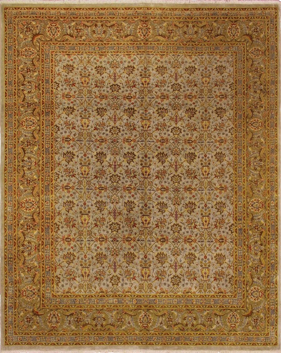 Clerkin Hand Knotted Wool Beige Area Rug Size: 8'2