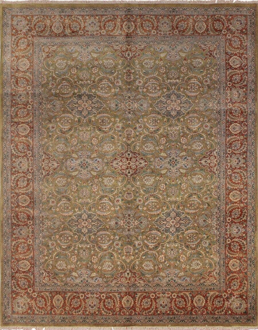 Clerkin Hand Knotted Wool Gold Area Rug Size: 8'3