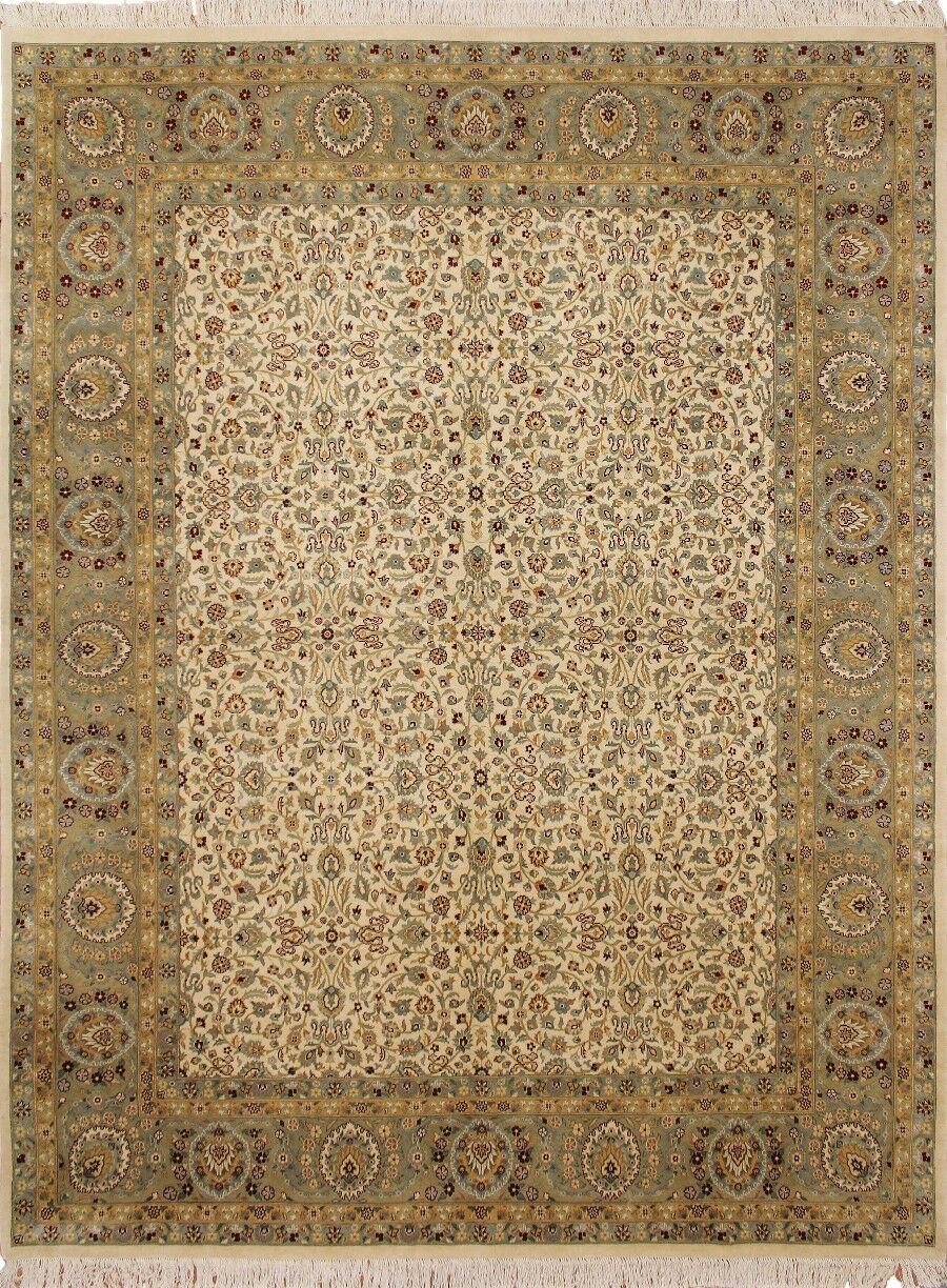 One-of-a-Kind Mickey Oriental Hand Knotted Wool Ivory Area Rug