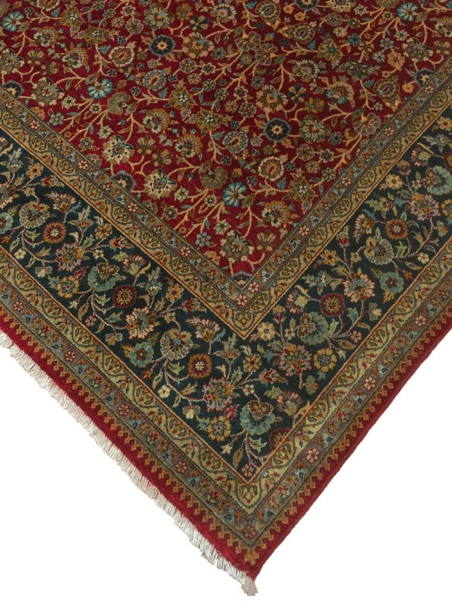 Clerkin Hand Knotted Wool Red/Blue Area Rug Size: 8'4
