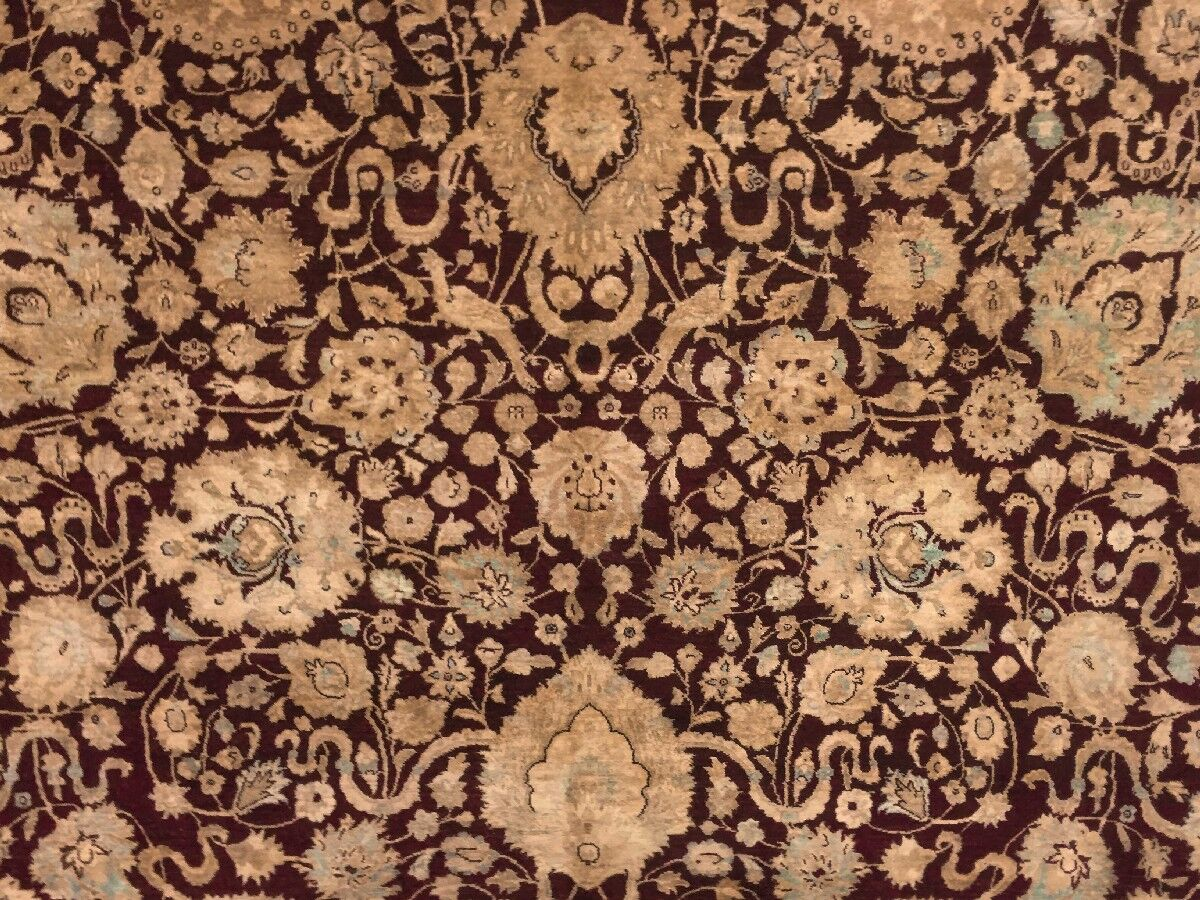 One-of-a-Kind Mickey Hand Knotted Wool Burgundy Area Rug