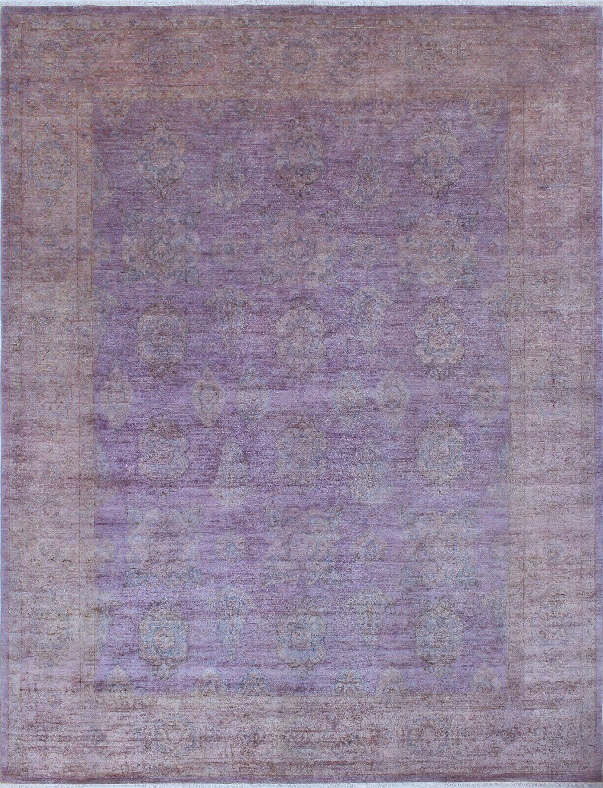 Blakeslee Knotted Wool Purple Area Rug