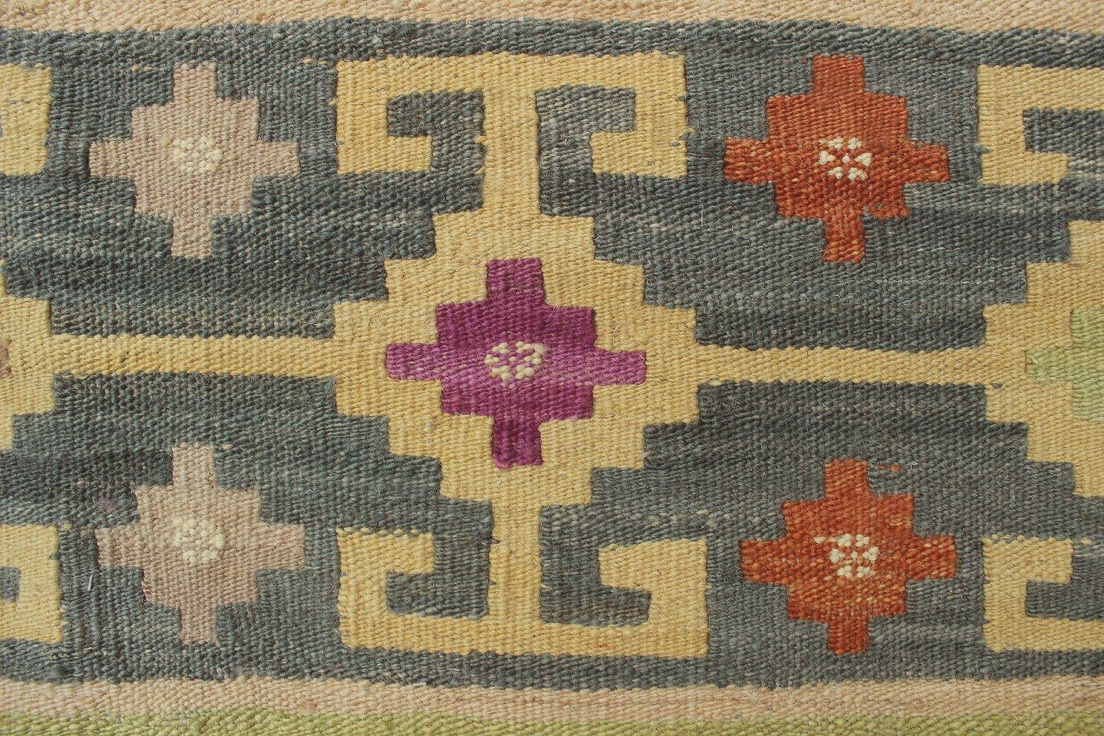 Corda Handmade Kilim Wool Beige Area Rug