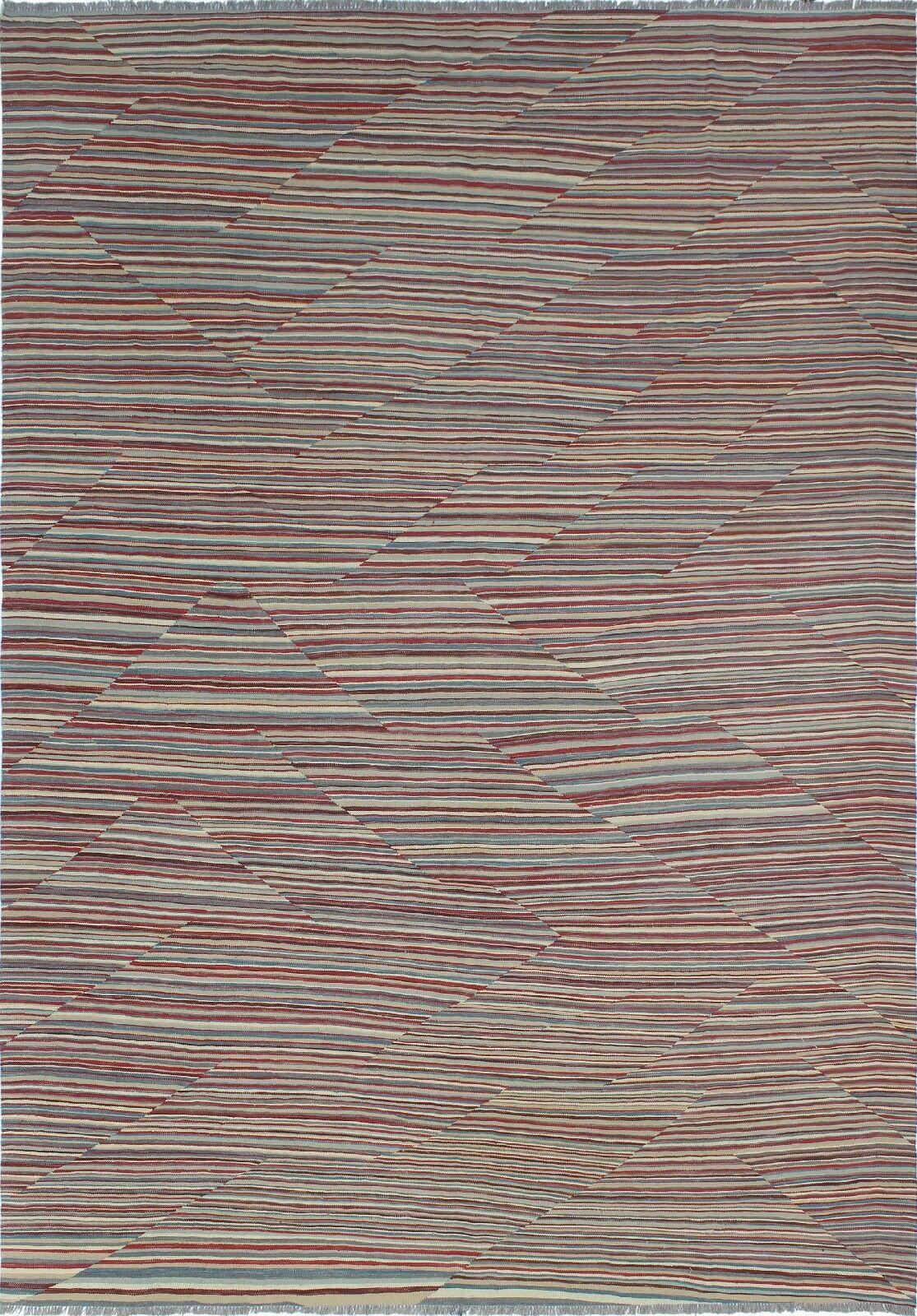 Troy Kilim Hand Woven Wool Rectangle Rust Area Rug