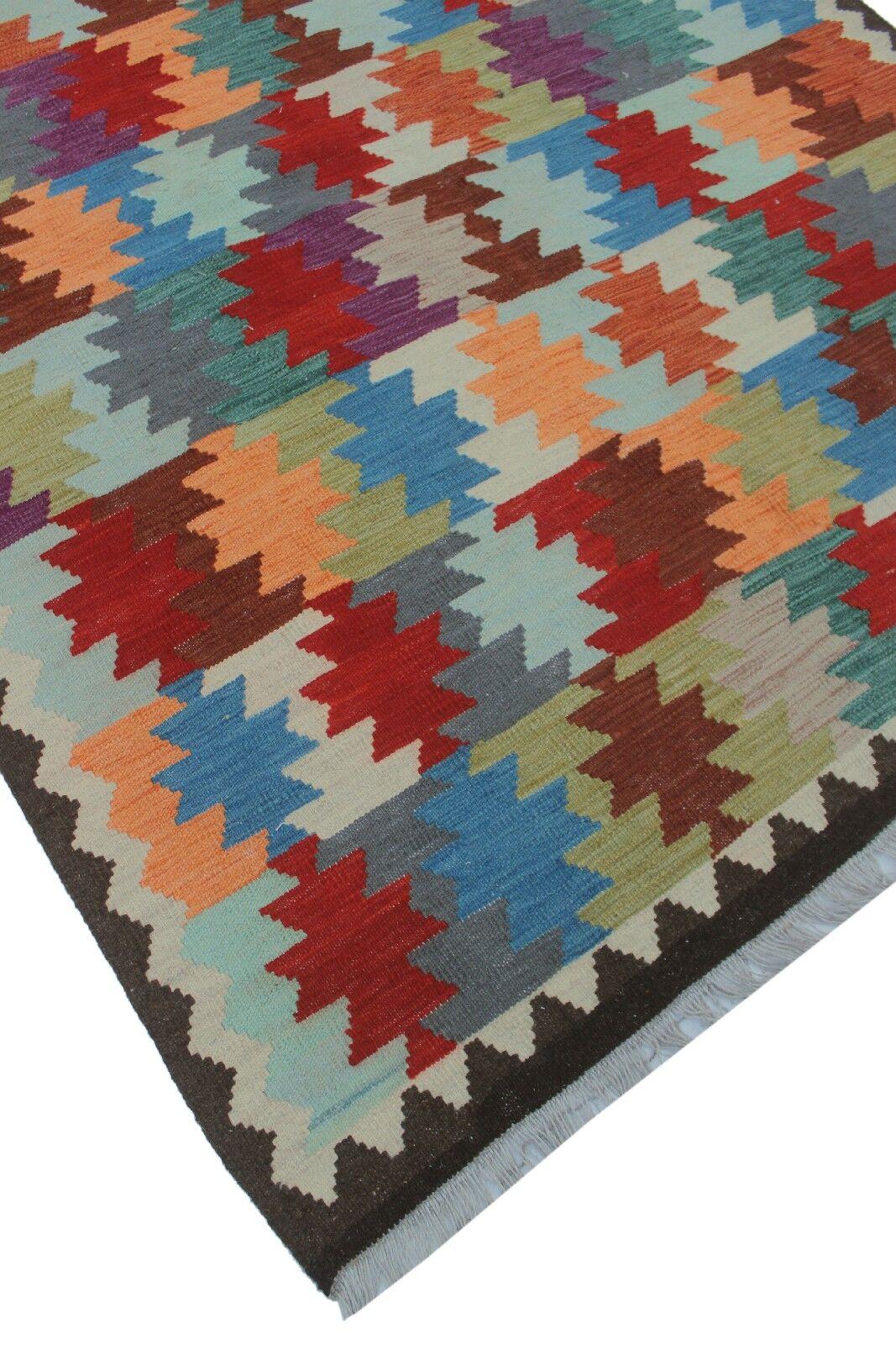 Rucker Kilim Hand Woven Wool Gray/Red Southwestern Area Rug