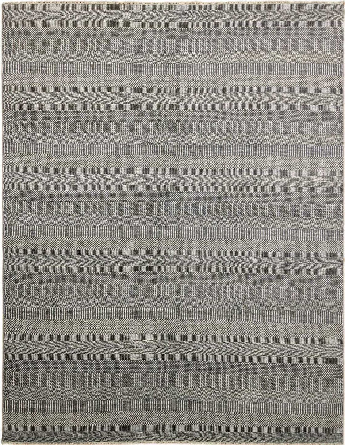 One-of-a-Kind Abrahams Super Fine Hand-Knotted Gray Area Rug