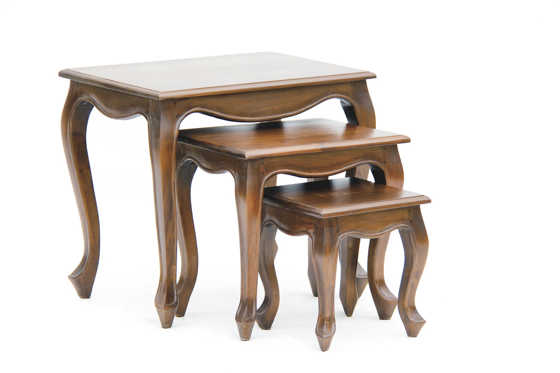 Wallsend Fine Handcrafted Solid Mahogany Wood End Table Color: Walnut