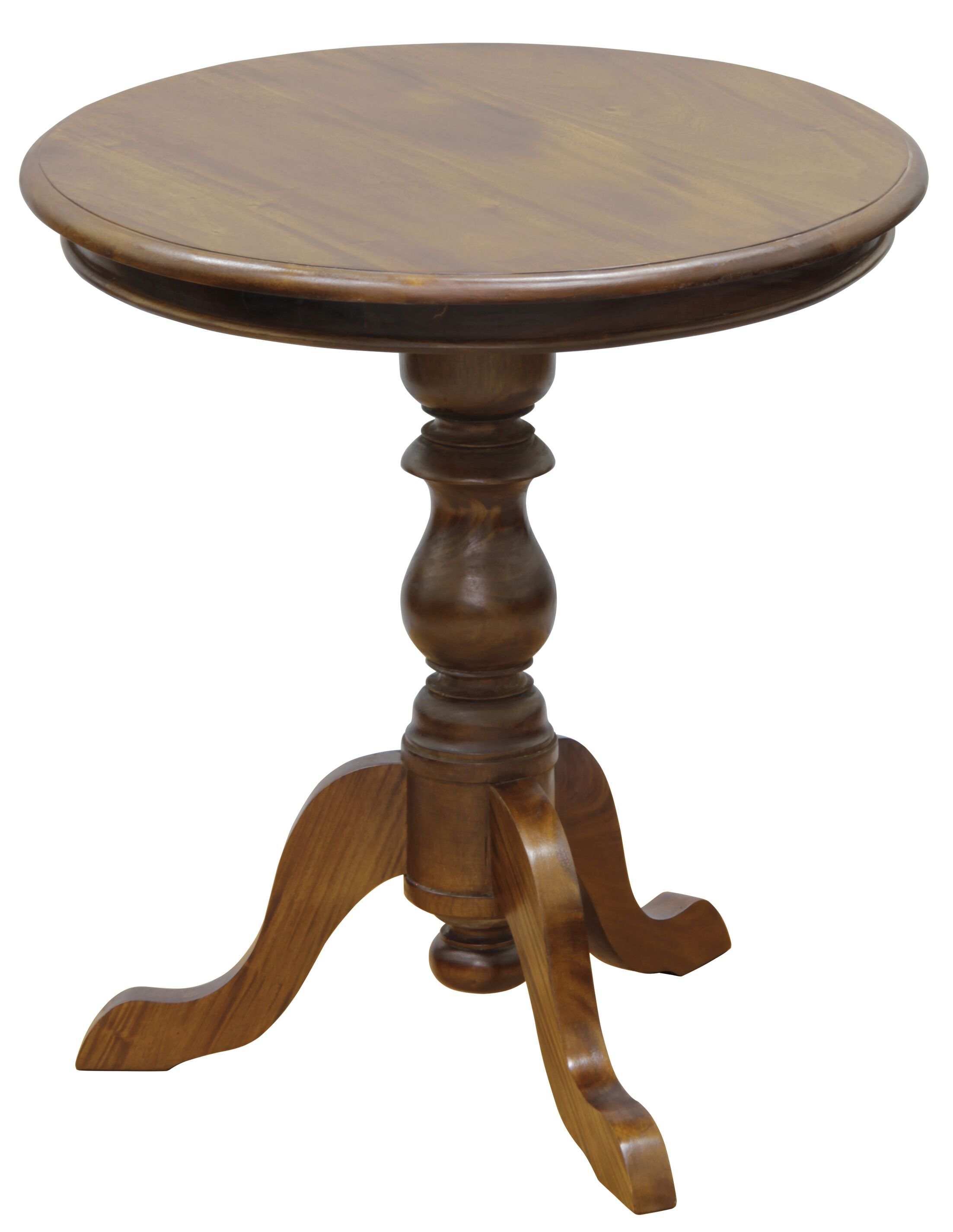 Isabelle Fine Handcrafted Solid Mahogany Wood End Table