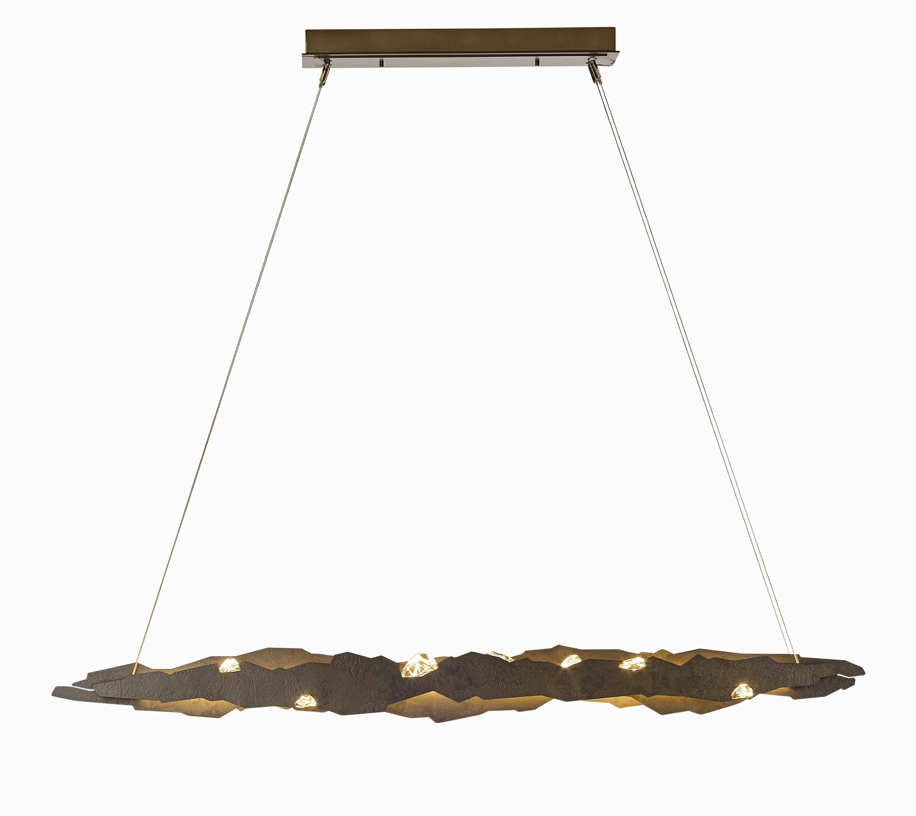 Quinby  LED  Pendant Finish: Burnished Steel, Size: Standard