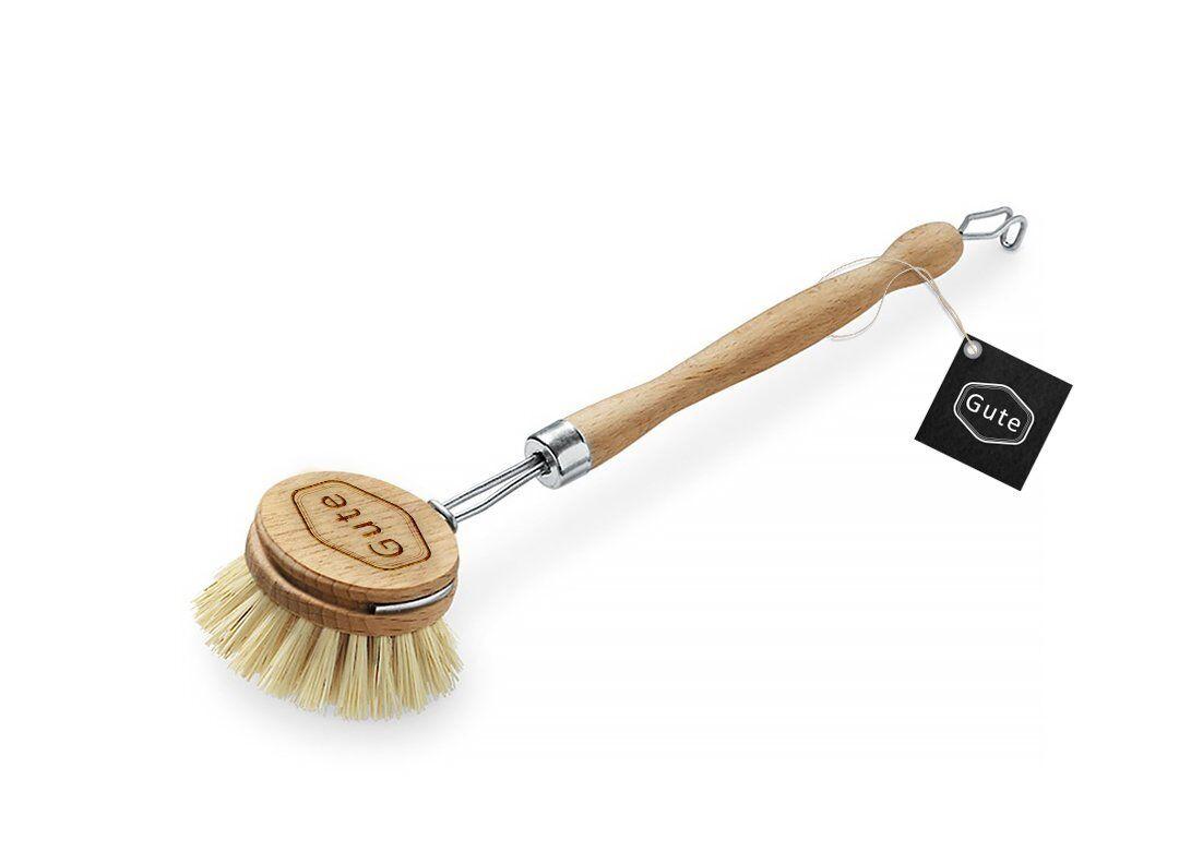 Soft Horsehair Bristle Dish Brush Color: Natural