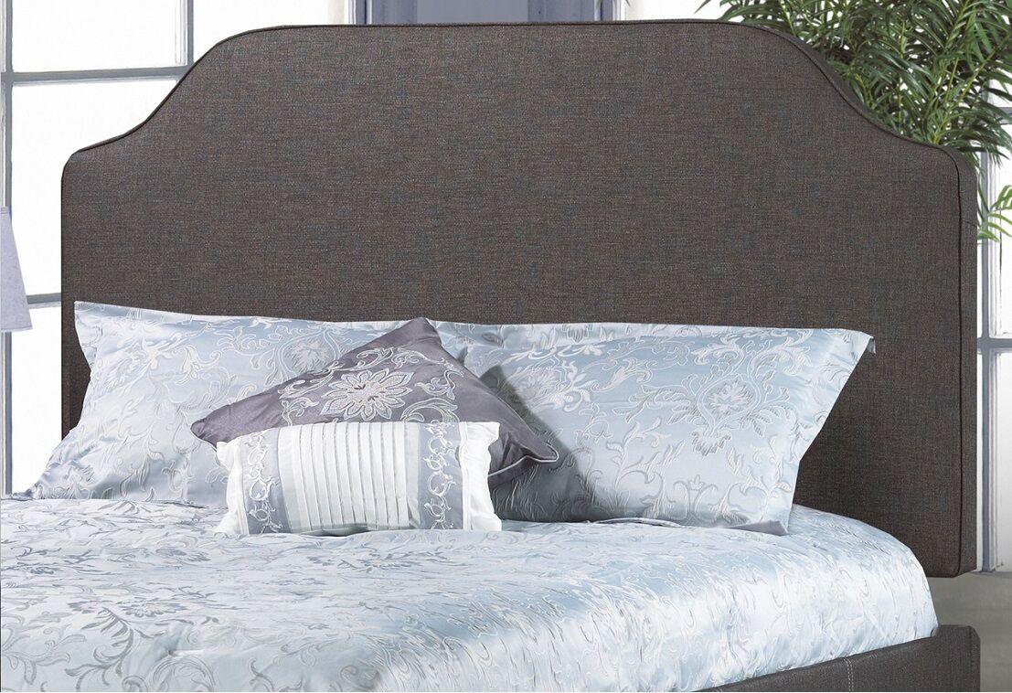 Glenshaw Upholstered Panel Headboard Upholstery: Charcoal, Size: Double