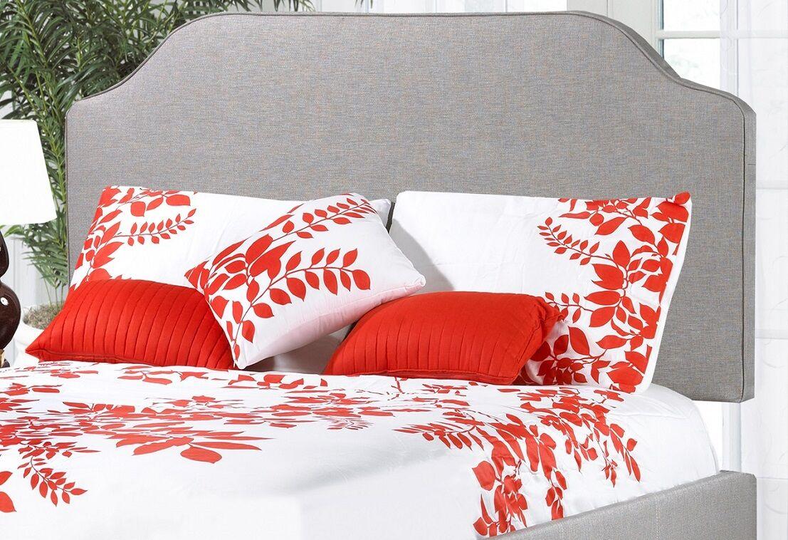 Glenshaw Upholstered Panel Headboard Upholstery: Gray, Size: Single