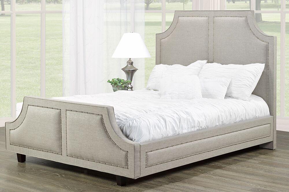 Gilmartin Upholstered Panel Headboard Size: Double, Upholstery: Gray