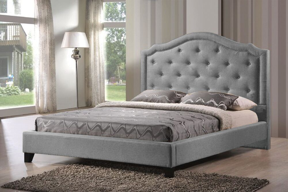 Macey Upholstered Panel Headboard Upholstery: Gray, Size: Queen
