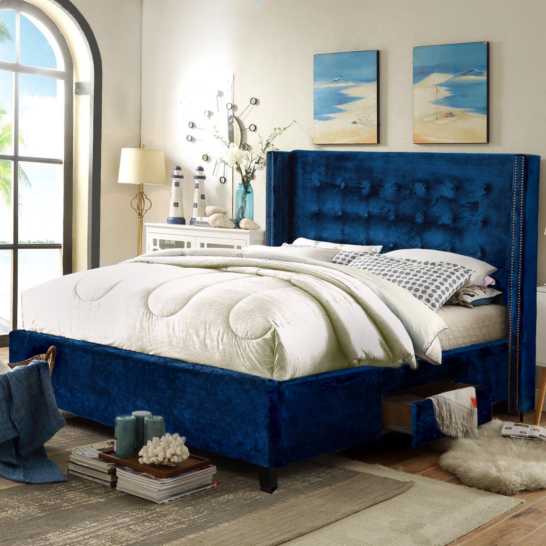 Charles Storage Platform Bed Size: King