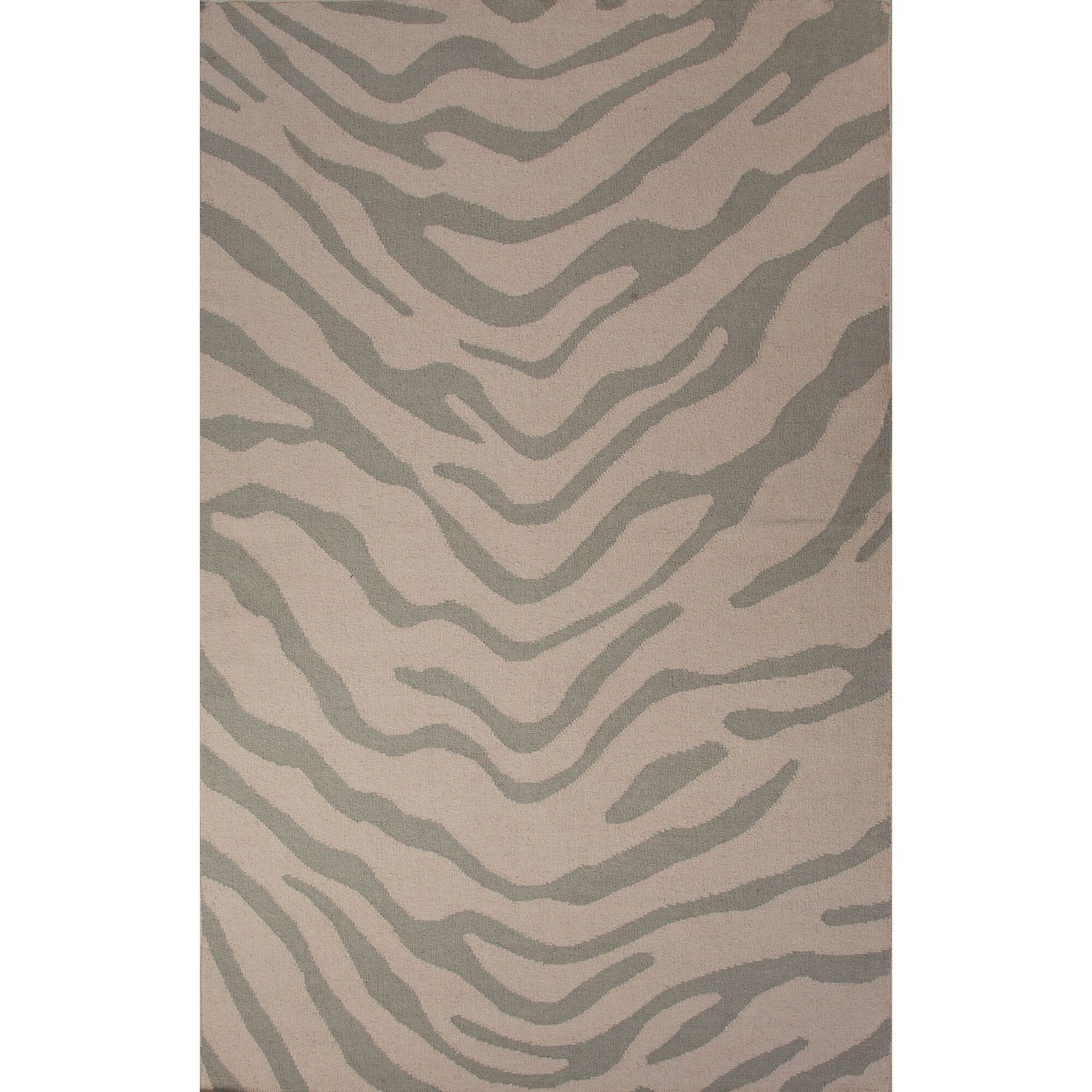 National Geographic Home Wool Flat Weave Gray Area Rug Rug Size: 5' x 8'