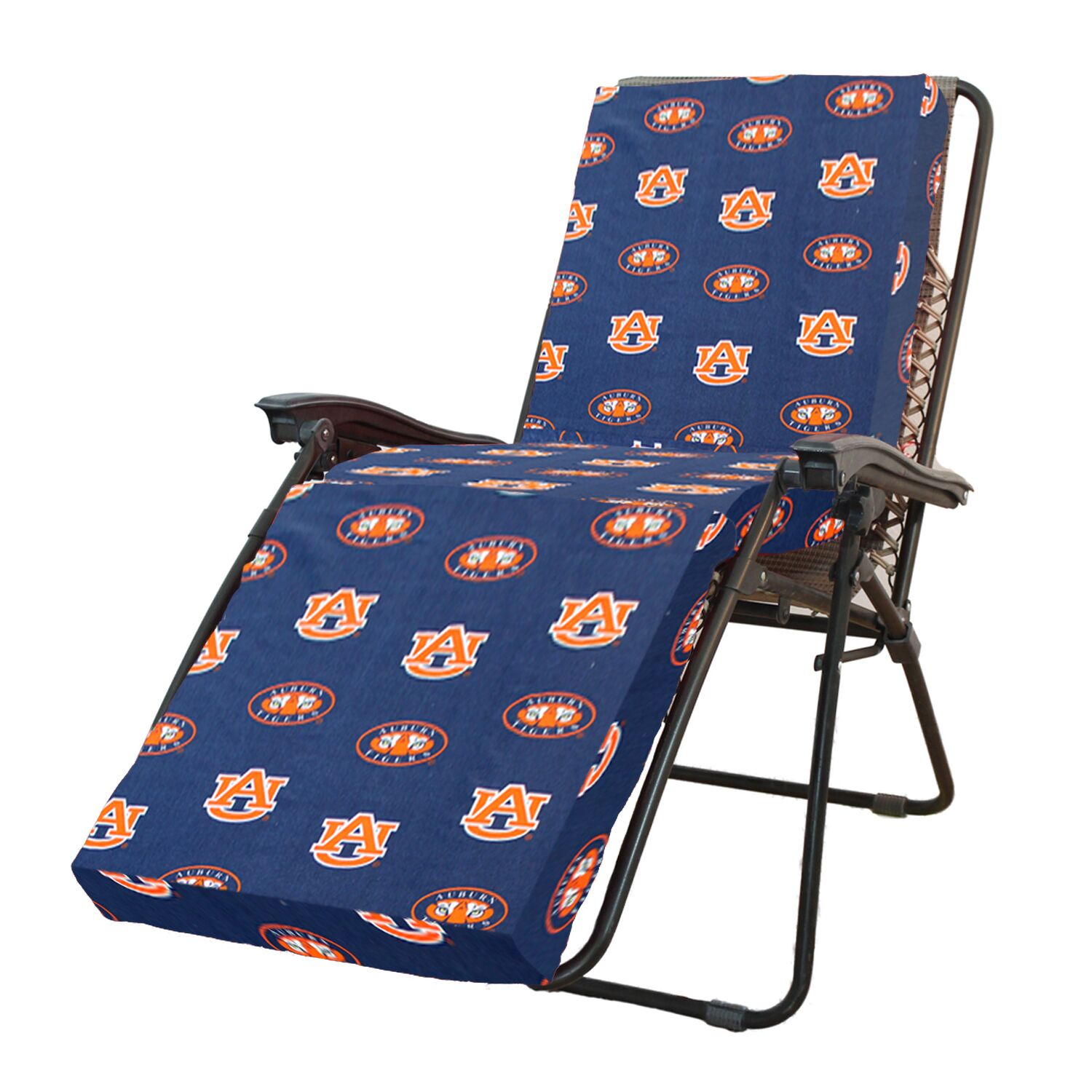 NCAA Auburn Indoor/Outdoor Chaise Lounge Cushion