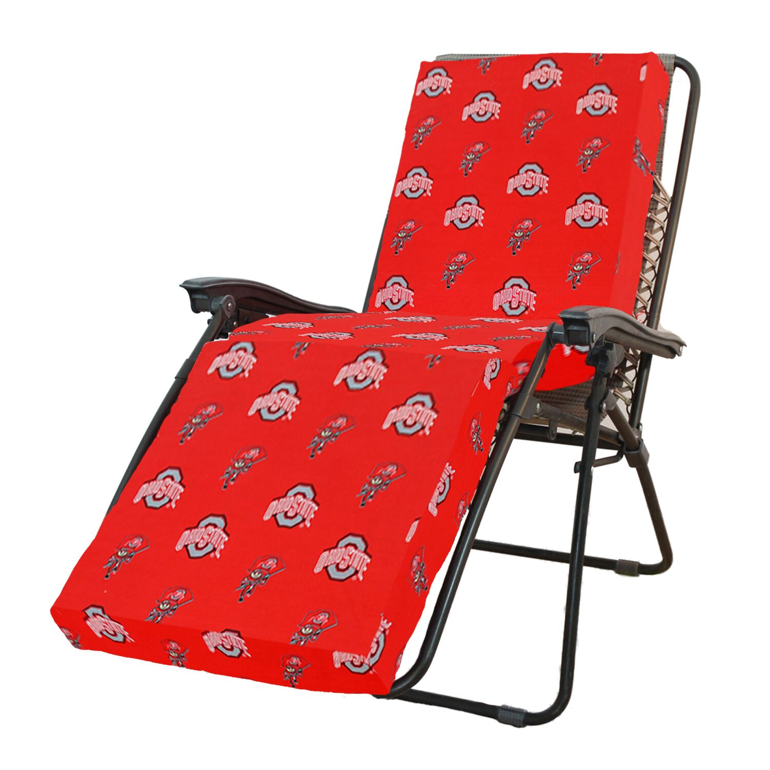 NCAA Ohio State Indoor/Outdoor Chaise Lounge Cushion