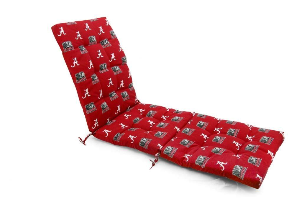 NCAA Alabama Indoor/Outdoor Chaise Lounge Cushion