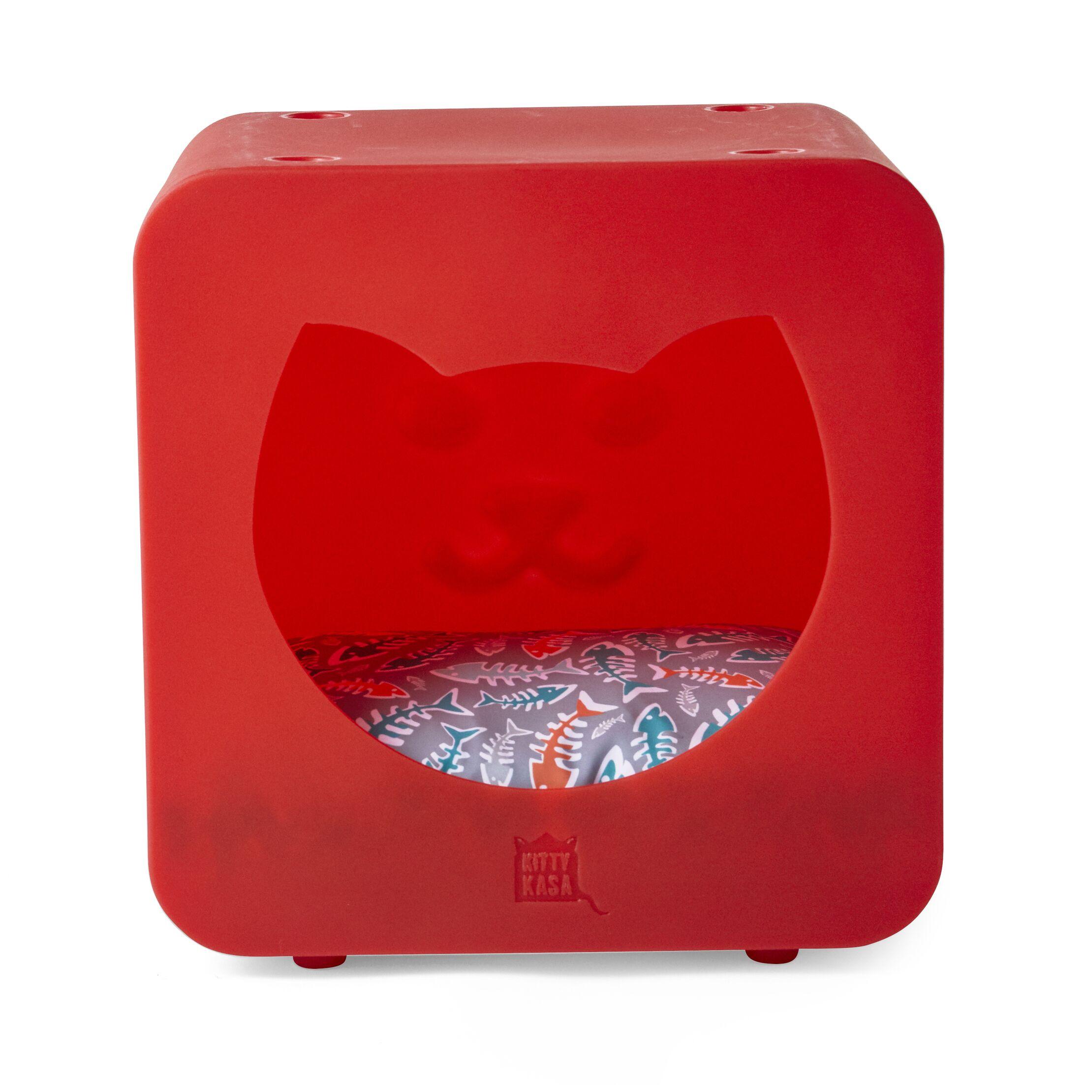 Nicki Bedroom Cube Color: Red