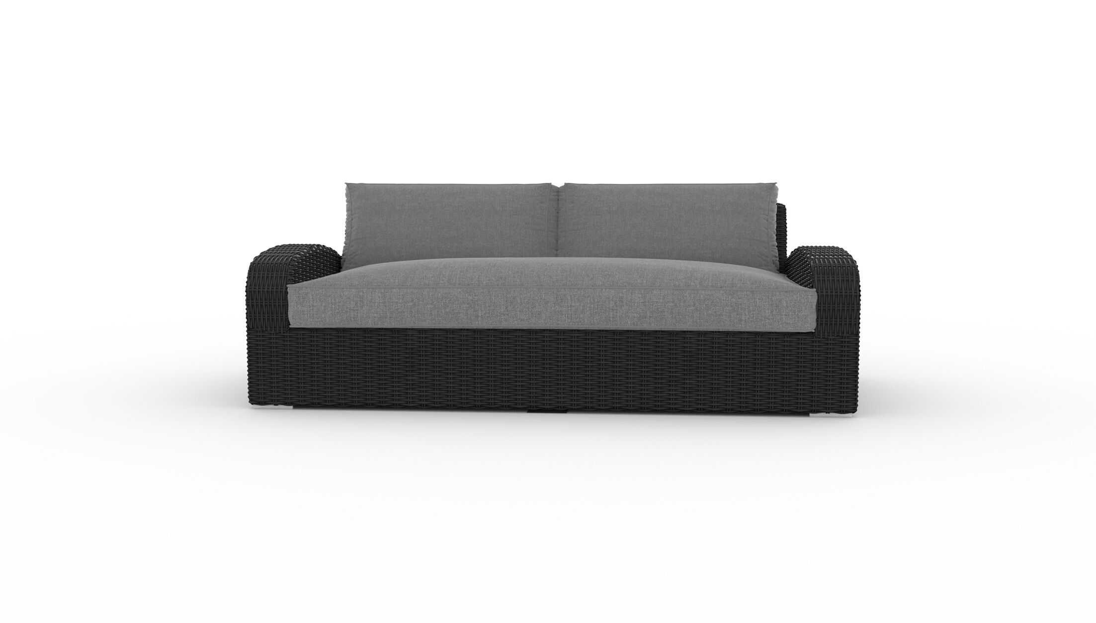 Boomer Patio Sofa with Cushions Cushion Color: Cast Slate