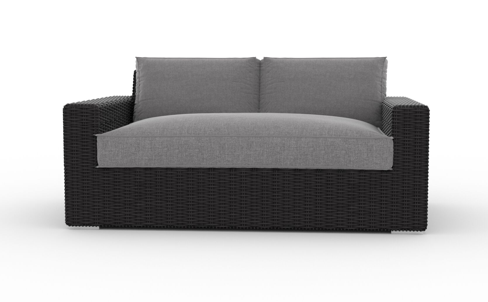 Turo Loveseat with Cushions Cushion Color: Cast Ash
