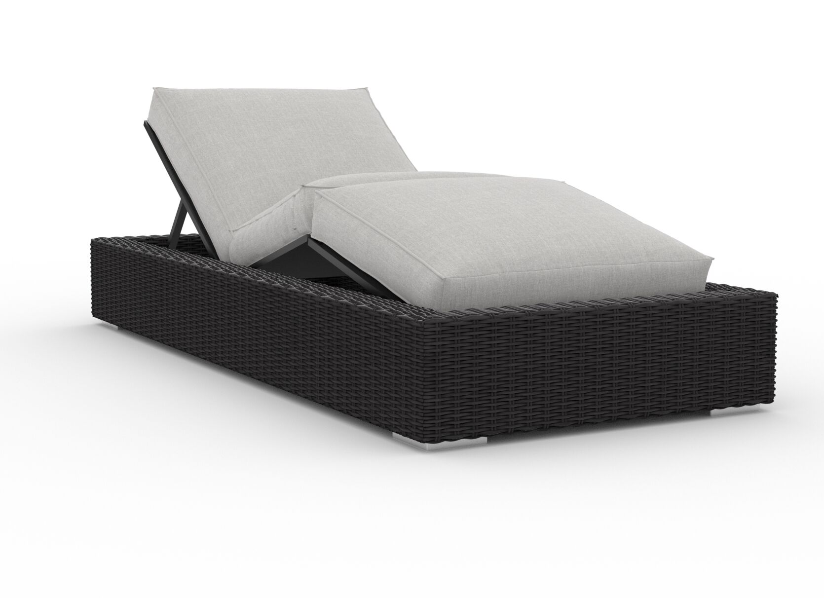 Mcanulty Reclining Chaise Lounge with Cushion Cushion Color: Cast Silver