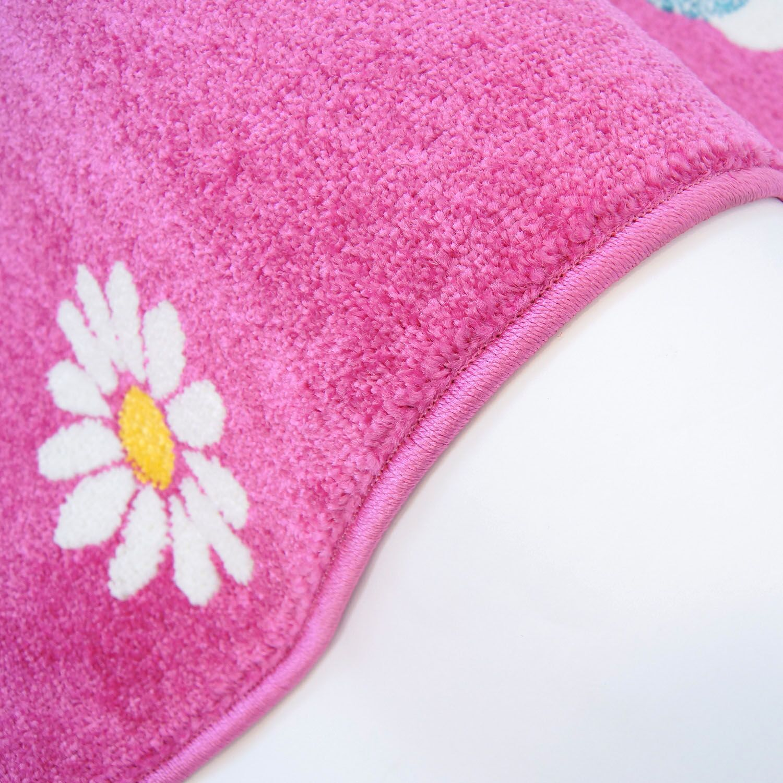 Jodie Kids Owl Pink Area Rug Rug Size: Rectangle 5'3