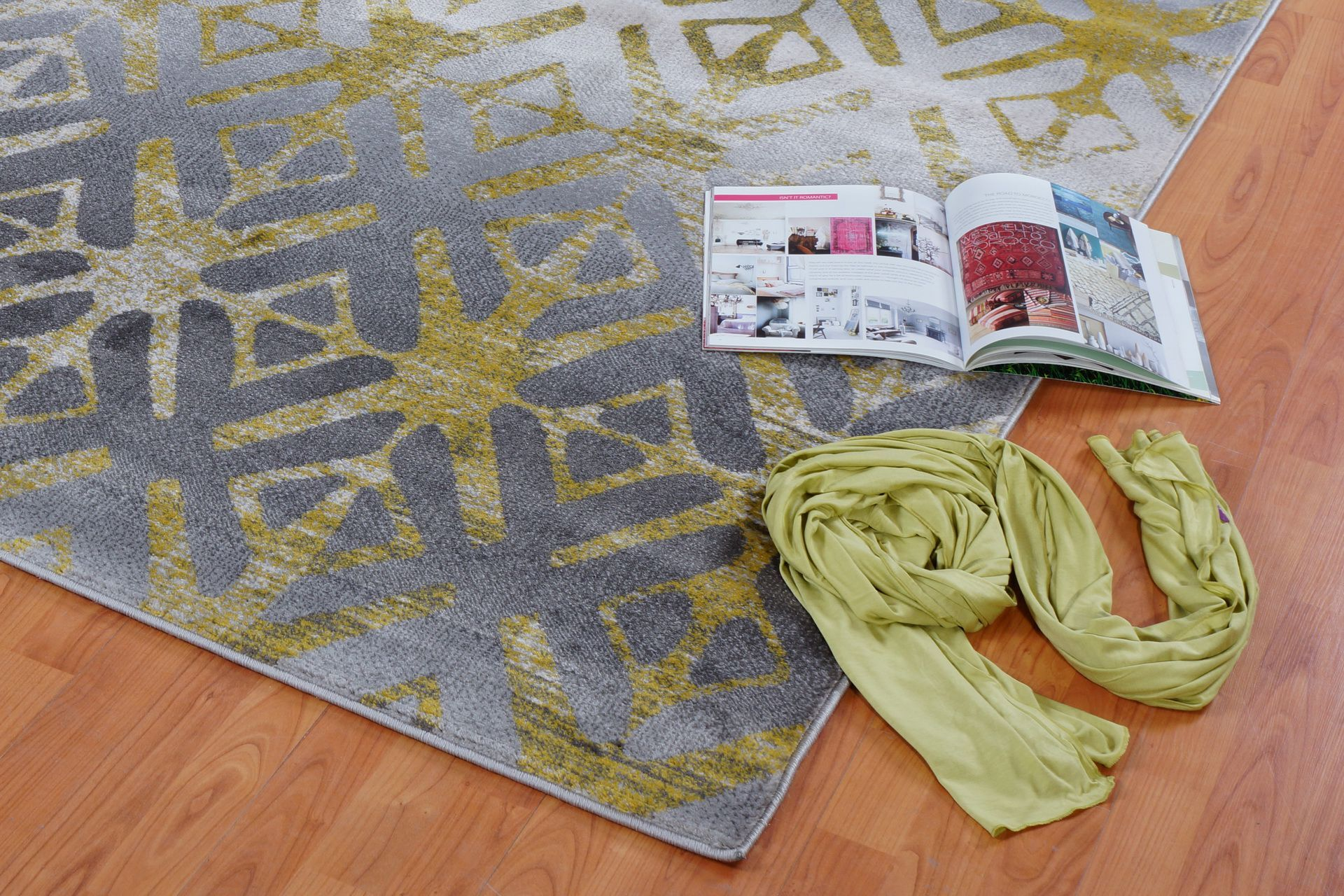 Fenster Gray Area Rug Rug Size: Rectangle 2'7