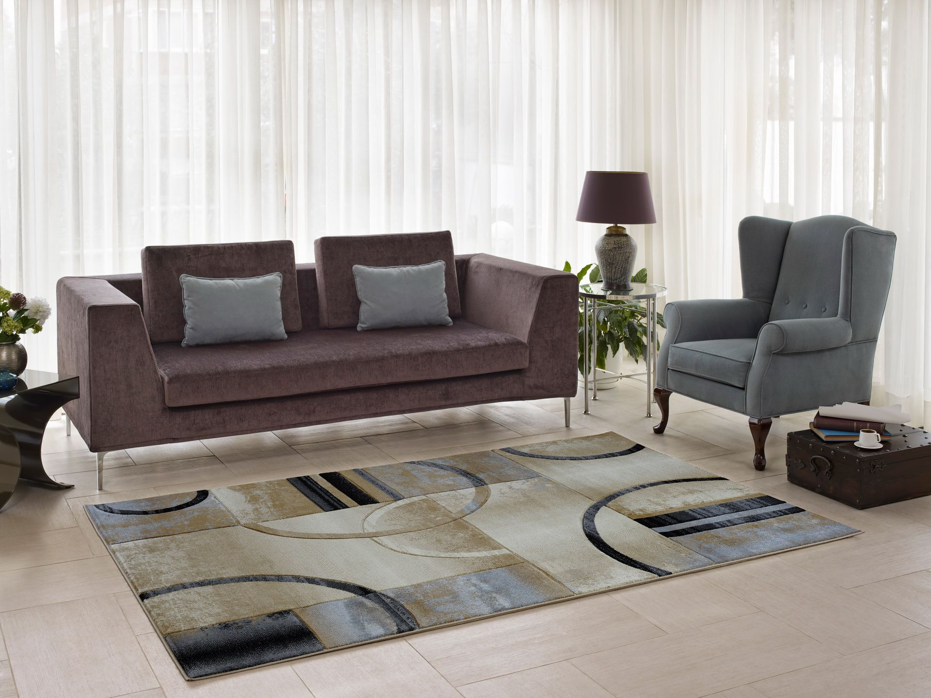 Collier Beige/Gray Area Rug Rug Size: 3'9